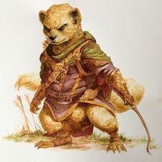 Pathfinder Beastfolk Mongoose Rat And Boar Unfinished